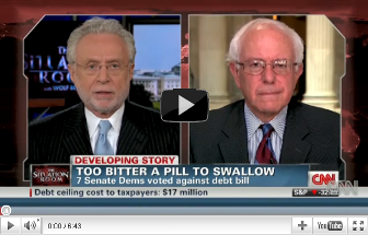 Click here to see Bernie discuss the debt deal on CNN