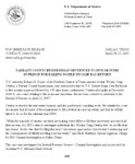 DOJ Letter listing charges against Craig Ownby