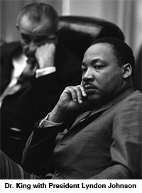 Dr. King and President Johnson
