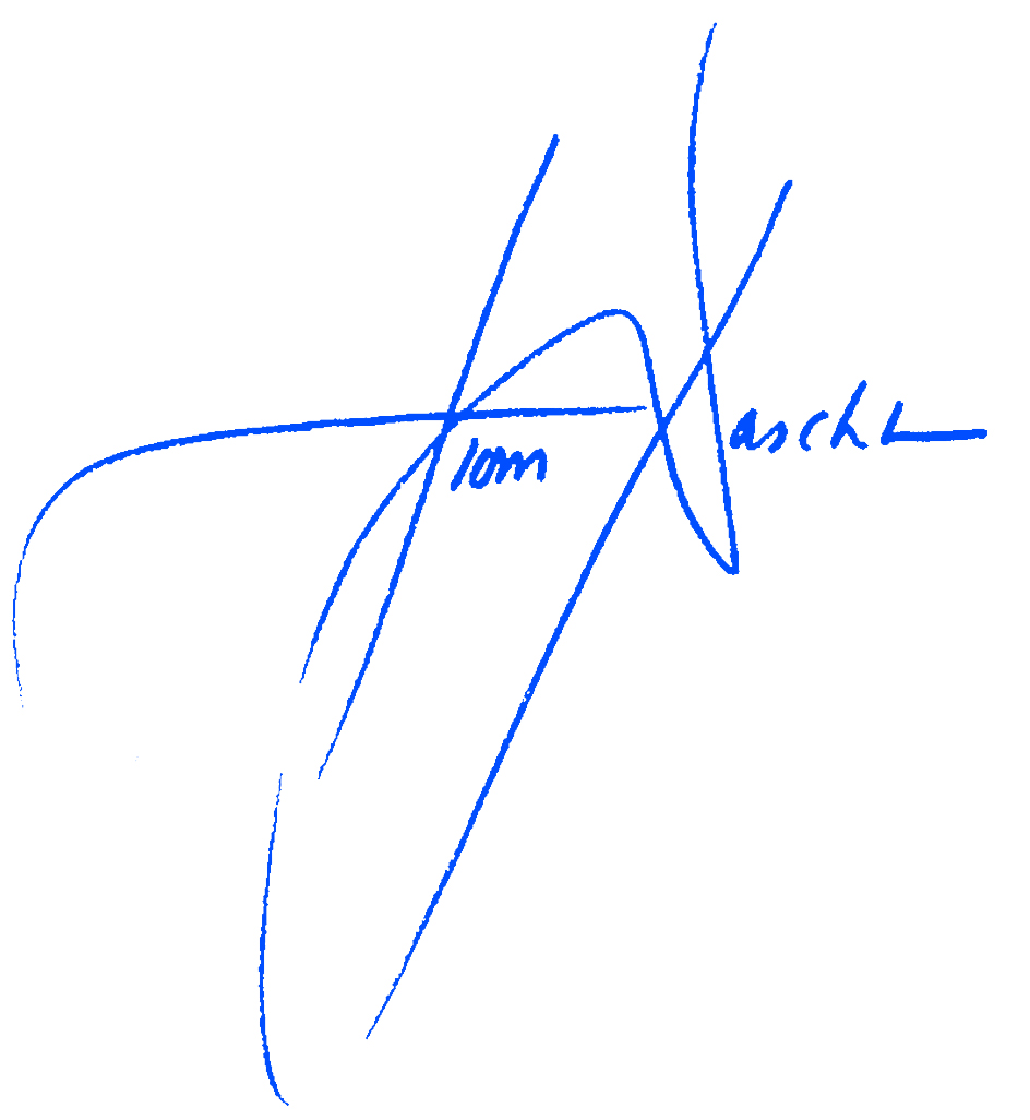 Sen. Tom Daschles Signature