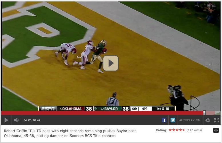 Baylor Game ESPN